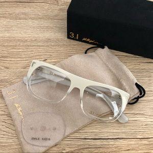 Phillip Lim 3.1  Emile White/Clear Ombré Glasses